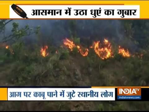 रुकने का नाम नहीं ले रही चमोली का जंगलों में लगी भीषण आग