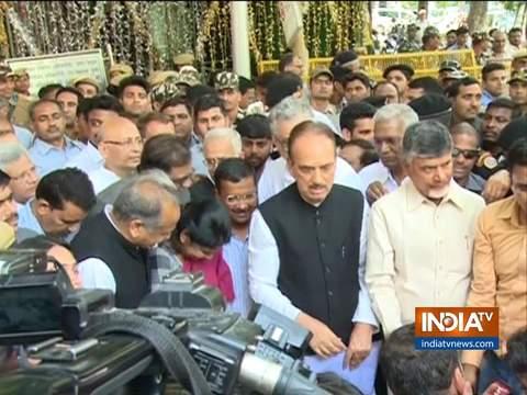 Opposition leaders meet EC, press their demand of tallying VVPAT slips with EVM figures