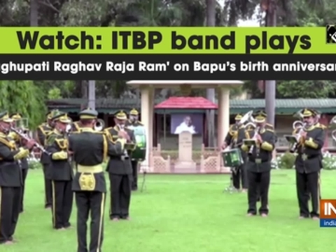 Watch: ITBP band plays 'Raghupati Raghav Raja Ram' on Bapu's birth anniversary
