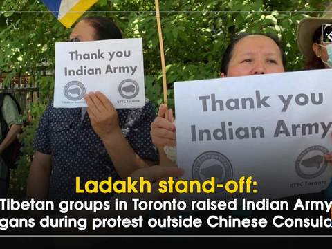 Ladakh stand-off: Tibetan groups in Toronto raised Indian Army slogans during protest outside Chinese Consulates