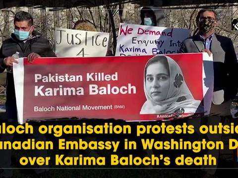 Baloch organisation protests outside Canadian Embassy in Washington, DC, over Karima Baloch's death
