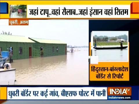 असम की बाढ़ से हुआ बीएसएफ के जवानों का सामना