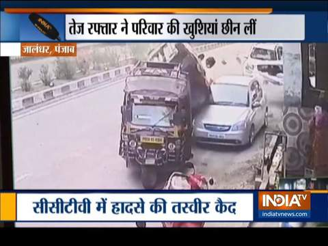 Woman dies in a tragic road accident in Jalandhar, husband and son seriously injured