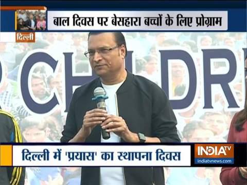 इंडिया टीवी के एडिटर इन चीफ रजत शर्मा एनजीओ 'प्रयास' के 31 वें स्थापना दिवस कार्यक्रम में बतौर मुख्य अतिथि शामिल हुए