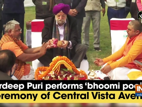Hardeep Puri performs 'bhoomi poojan' ceremony of Central Vista Avenue