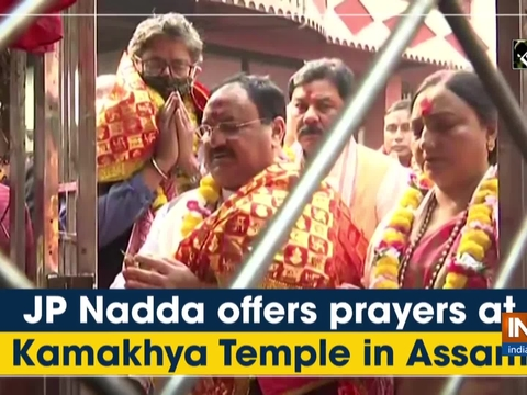 JP Nadda offers prayers at Kamakhya Temple in Assam