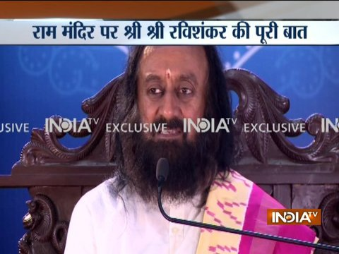 Only solution of Ayodhya dispute is to shift mosque to a nearby place, says Sri Sri Ravi Shankar