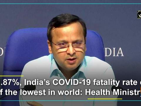 At 2.87%, India's COVID-19 fatality rate one of the lowest in world: Health Ministry