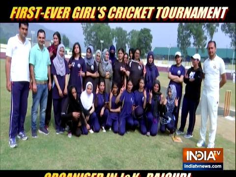 जम्मू-कश्मीर में पहली बार आयोजित किया गया लड़कियों का क्रिकेट टूर्नामेंट