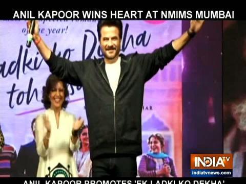अनिल कपूर ने मुंबई में इस अंदाज में किया 'एक लड़की को देखा तो ऐसा लगा' का प्रमोशन