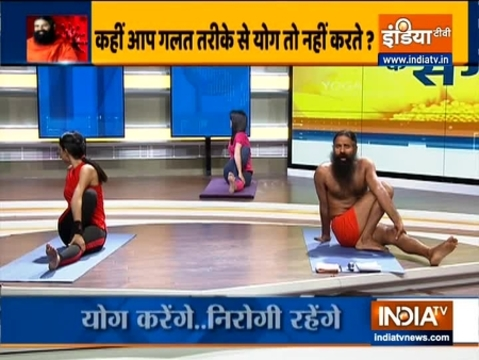 Know what is the right way to do Vrakasana, Gomukhasana and Bhujangasana from Swami Ramdev