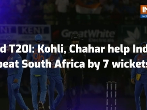 2nd T20I: Kohli, Chahar help India beat South Africa by 7 wickets