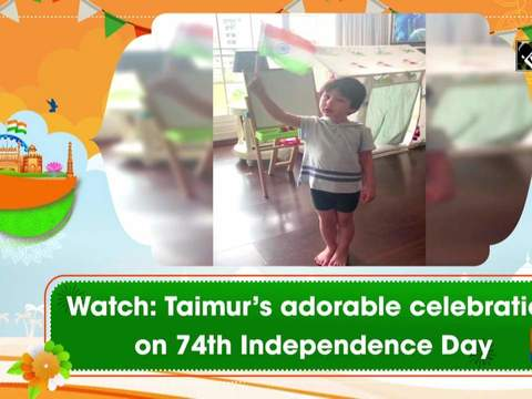Watch: Taimur's adorable celebration on 74th Independence Day