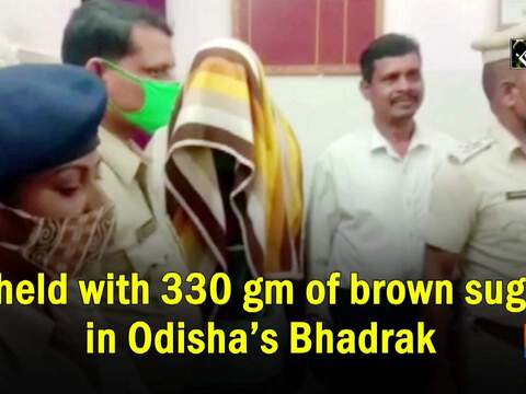 1 held with 330 gm of brown sugar in Odisha's Bhadrak
