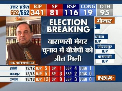 UP Civic Poll Result: Ram Mandir will surely be made now in Ayodhya, says Subramanian Swamy