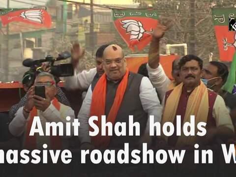 Amit Shah holds massive roadshow in WB