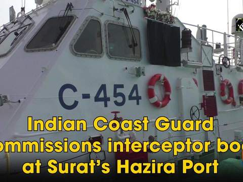 Indian Coast Guard commissions interceptor boat at Surat's Hazira Port