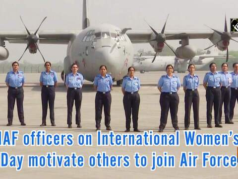 IAF officers on International Women's Day motivate others to join Air Force