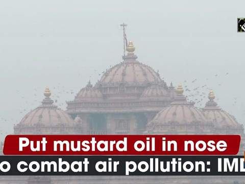 Put mustard oil in nose to combat air pollution: IMD