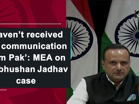 'Haven't received any communication from Pak': MEA on Kulbhushan Jadhav case