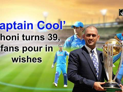 'Captain Cool' Dhoni turns 39, fans pour in wishes