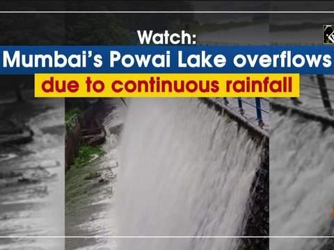 Watch: Mumbai's Powai Lake overflows due to continuous rainfall