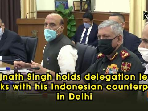 Rajnath Singh holds delegation level talks with his Indonesian counterpart in Delhi