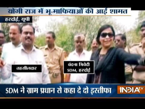 Hardoi SDM warns land mafias not to occupy govt land for their own purpose