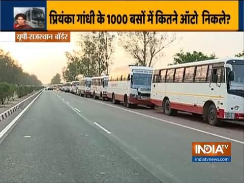 यूपी-राजस्थान बॉर्डर पर फंसी प्रवासी मजदूरों को ला रही कांग्रेस की बसें