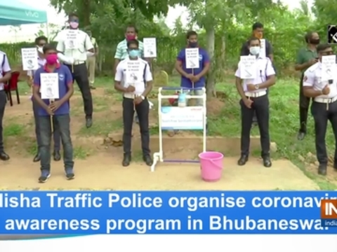 Odisha Traffic Police organise coronavirus awareness program in Bhubaneswar