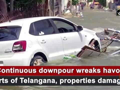 Continuous downpour wreaks havoc parts of Telangana, properties damaged