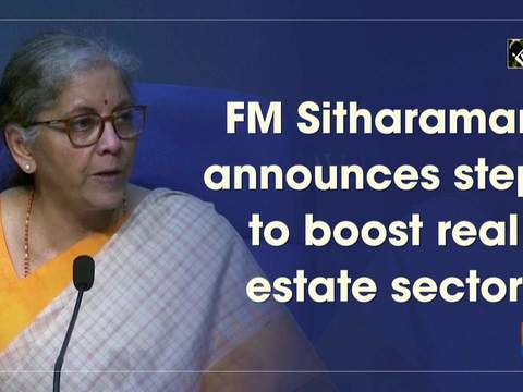 FM Sitharaman announces steps to boost real estate sector