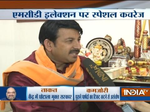 MCD Elections 2017 updates: Delhi BJP chief Manoj Tiwari offers prayers at his residence