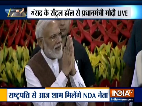 NDA unanimously chooses PM Narendra Modi as leader during parliamentary party meet