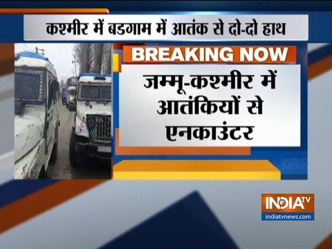 जम्मू-कश्मीर: बडगाम जिले के चार-ए-शरीफ में एन्काउंटर जारी, सुरक्षाबलों ने घेरे 2 से 3 आतंकी