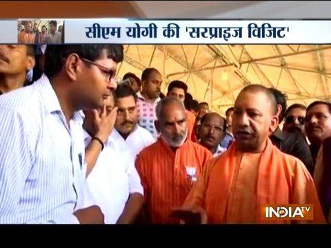 Yogi Adityanath pays surprise visit to Roja Gehu Mandi in Shahjahanpur