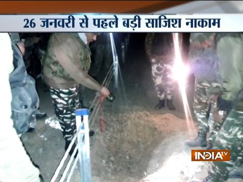 CRPF found an IED bomb fitted inside a pressure cooker in Pampore
