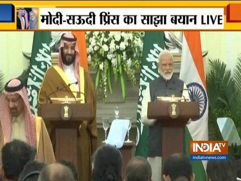 भारत-साउदी अरब का साझा बयान, आतंकवाद के मुद्दे पर साथ आए दोनों देश