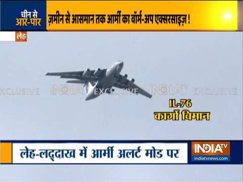 Indian attack helicoptors patrol Ladakh-Leh border region as border tension rise