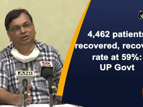 4,462 patients recovered, recovery rate at 59 percent: UP Govt