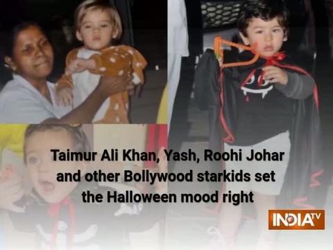 Taimur Ali Khan, Yash, Roohi Johar and other Bollywood starkids set the Halloween mood right