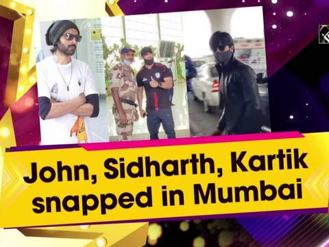John, Sidharth, Kartik snapped in Mumbai