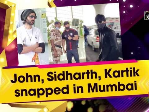 John, Sidharth, Kartik snapped in Mumbai