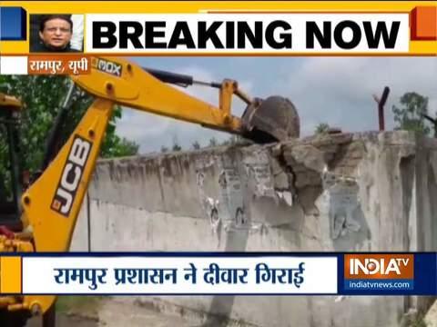 रामपुर: आजम खान के रिसॉर्ट पर चला बुलडोज़र