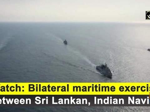 Watch: Bilateral maritime exercise between Sri Lankan, Indian Navies