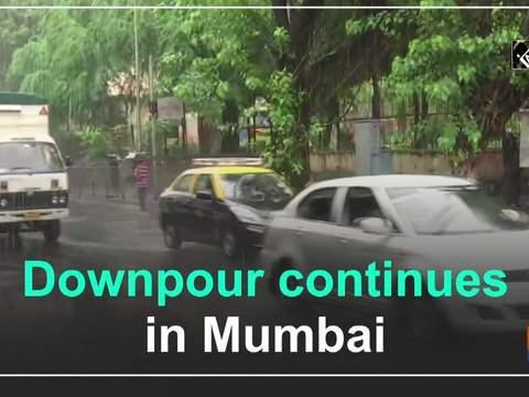 Downpour continues in Mumbai