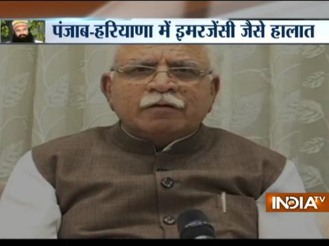 Panchkula violence: Those found guilty of taking law in their hands will be dealt with severely says CM Khattar