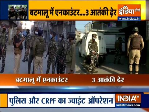 जम्मू-कश्मीर: श्रीनगर में सुरक्षाबलों के साथ मुठभेड़ में तीन आतंकी ढेर