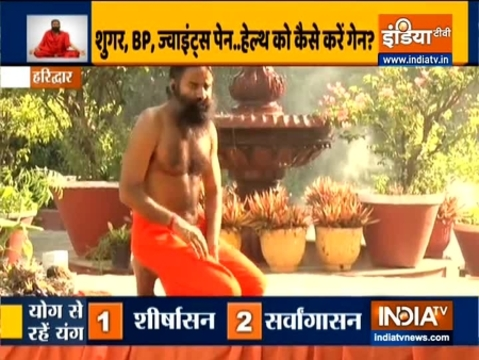 Learn from Swami Ramdev the benefits of Shirshasana