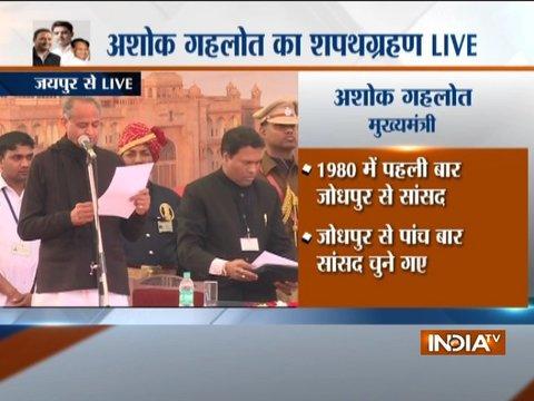अशोक गहलोत ने तीसरी बार ली राजस्थान के मुख्यमंत्री पद की शपथ